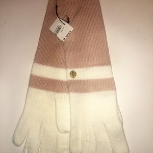 New W/Tag Anne Klein Women Color Block Long Gloves